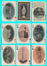 Antique Non-standard playing cards Historic Boston souvenir deck 1900